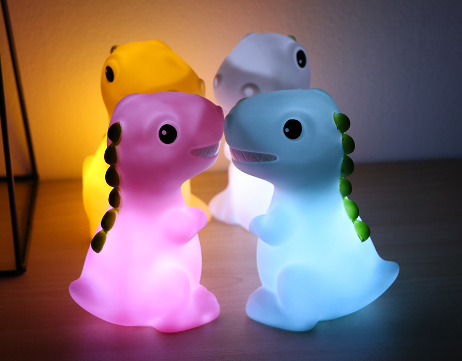 Dinosaur Animal Soft Night Light Led Small Night lamps Baby Kids Lamp Decoration Home Decor Cute Colorful Furnishing Electronics