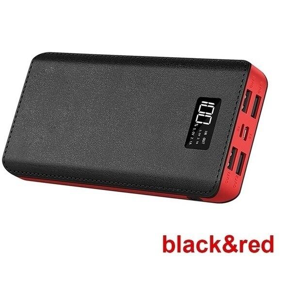 Xiaomi горячая Распродажа 30000 мАч Внешний аккумулятор 4 USB порта с двойным входным портом цифровой дисплей портативное зарядное устройство Аксессуары для мобильных телефонов - Цвет: Black-30000mAh