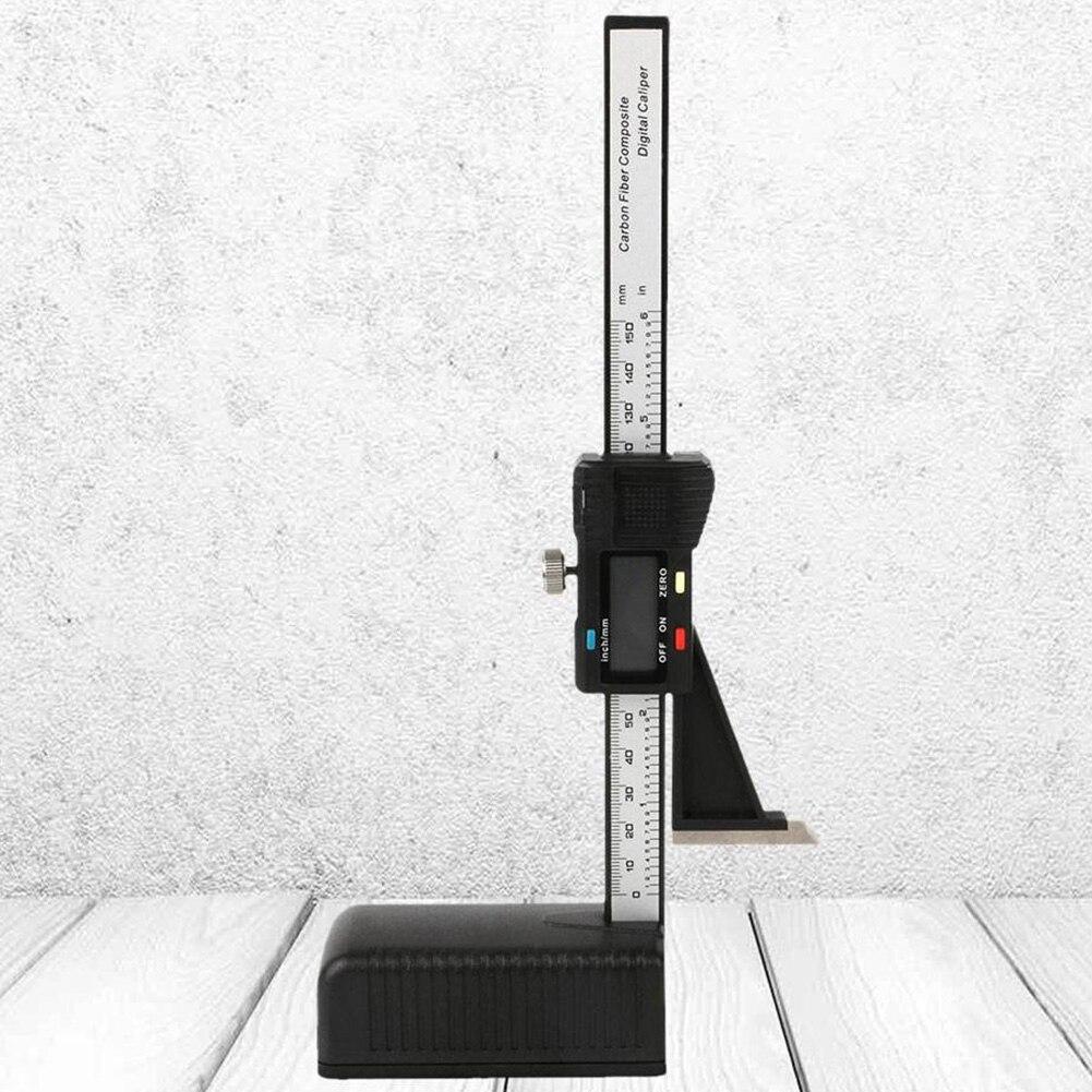 """Aletler'ten Kumpaslar'de Kaliper aşınmaya dayanıklı yükseklik göstergesi hafif ahşap manyetik plastik ölçüm araçları 0 150mm/6"""" ev dijital ekran"""
