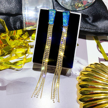 Hot Sale Earings Fashion Jewelry Multi-layer Chain Tassel Geometry Long Earrings Oorbellen Pendientes For Women Brincos