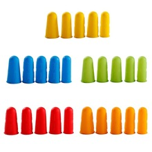 5Pcs Non-slip Silicone Finger Cover Cap Heat Insulation Finger Guard Protectors C63B