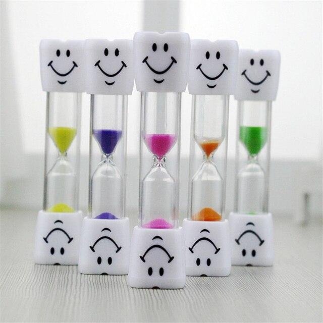 Dzieci dzieci klepsydra zabawki szczotkowanie zębów zegar 3 minuty uśmiechnięta twarz klepsydra zegar z klepsydrą zabawki chronograf przypomnienie zabawki