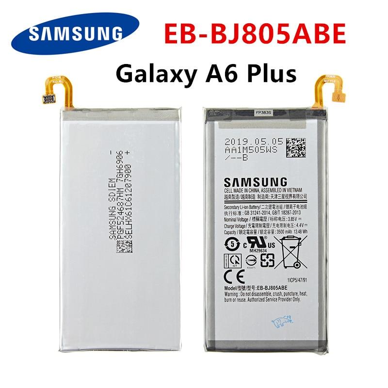 SAMSUNG Orginal EB-BJ805ABE 3500mAh Battery For Samsung Galaxy A6 Plus A6+ SM-A605F A605G A6050 A605K A605FN A605GN A6058