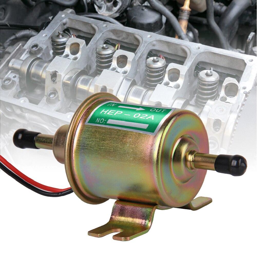 12V Universal Gas Diesel Inline Low Pressure Car Electric Fuel Pump Oil for Diesel&Petrol Engines PRECISION AUTO LABS Fuel Pump