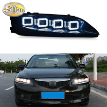 цена на SNCN Car Styling LED Headlight For Mazda 6 2003 - 2012 LED DRL Dynamic Turn Signal Light LED Projector Lens Head Lamp Assembly