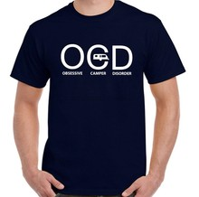 Trouble obsessionnel OCD campeurs-hommes drôle T-Shirt caravane remorque tente(China)