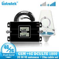 Lintratek rosja GSM 900 4G LTE 1800 Repeater GSM 1800mhz wzmacniacz sygnału komórkowego DCS dwuzakresowy wzmacniacz komórkowy 3G 4G antena