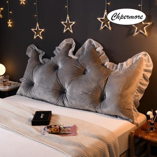 Chpermore 多機能 Fallei クラウンロング枕シンプルなベッドクッションベッドソフトモダンシンプルベッド睡眠のための枕