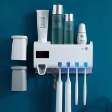 Ścienny pasta do zębów wyciskacz plastikowy uchwyt na szczoteczki do zębów automatyczna wyciskarka dozownik pasty do zębów akcesoria łazienkowe Dropship