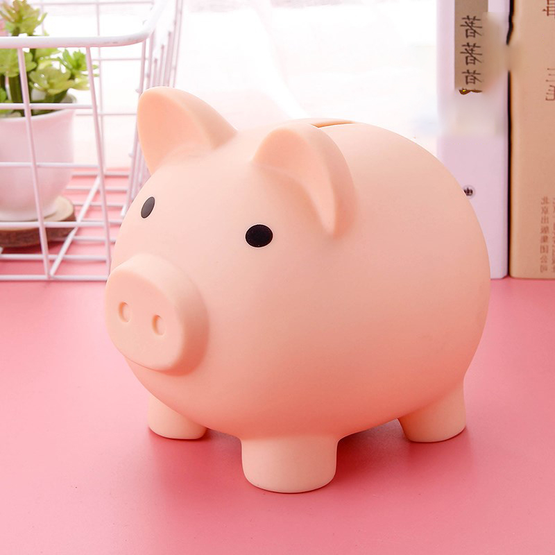 Collect Those Coins Pink Rubber Piggy Bank Savings Box Great Stocking Filler or Christmas Present Idea For Boys /& Girls Children Kids Age 3+ One Supplied