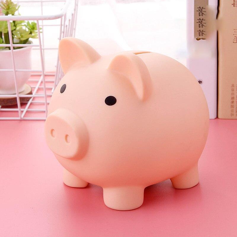 Porco dos desenhos animados Dinheiro Banco Moedas Caixa De Armazenamento de Brinquedos Infantis Presente de Aniversário Home Decor Poupar Dinheiro Boxes Crianças Piggy Dinheiro Do Banco