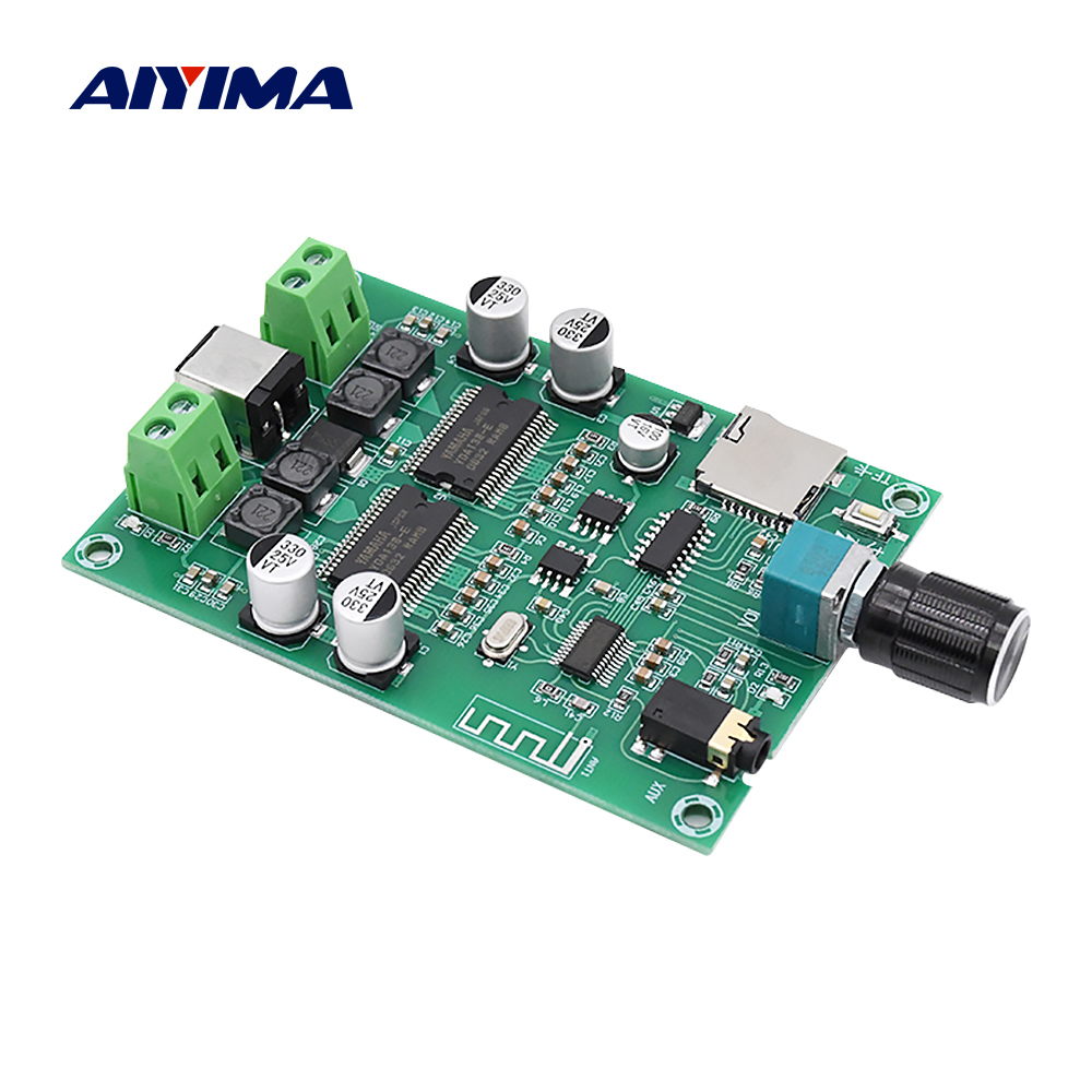 AIYIMA Bluetooth 5.0 Digital <font><b>Amplifier</b></font> <font><b>Audio</b></font> Board YDA138-E Dual Channel <font><b>20W</b></font> Stereo Mini Amp AUX TF DIY Sound Speaker <font><b>Amplifier</b></font> image