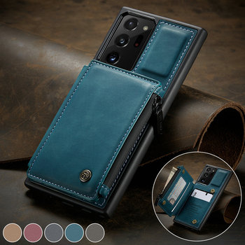 CaseMe Back Case For Samaung Note10 20 S10 Card Slot Retro Leather Wallet For Galaxy A51 A71 S20 Ultra S10Plus Stand Back Cover