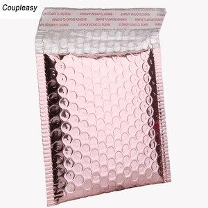 Image 2 - Пластиковые пакеты конверты из розового золота, водонепроницаемые пакеты пузырьки с подкладкой, 50 шт./лот