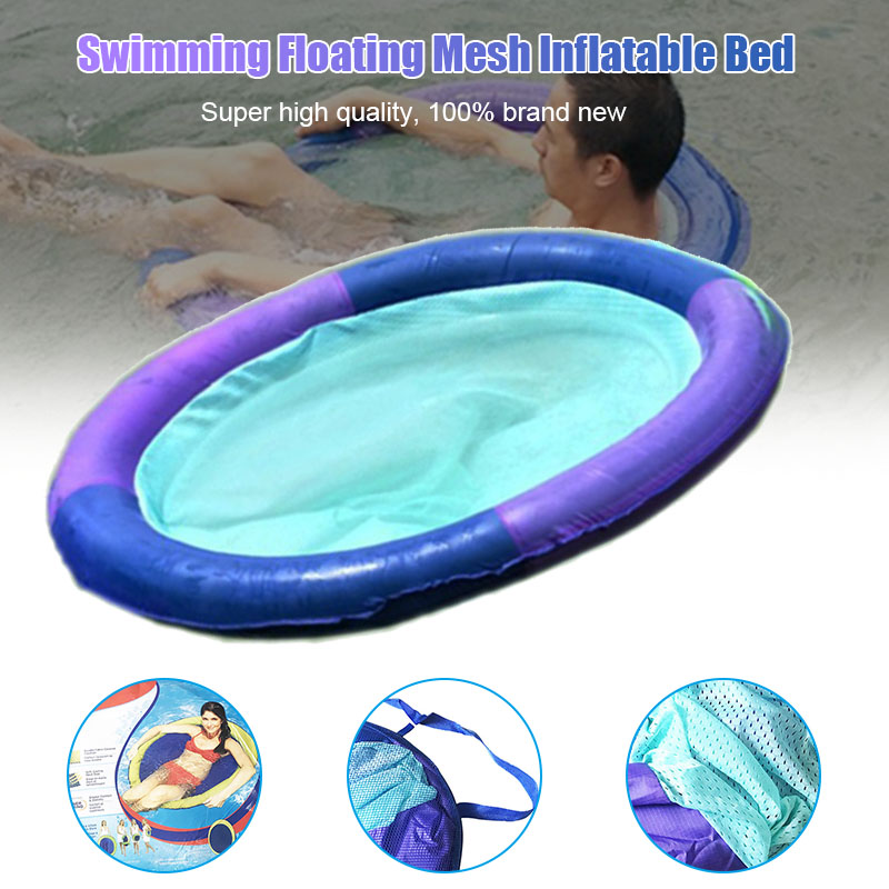 Swim Spring Float Mesh Water Hammock Recliner Inflatable Floating Swimming Mattress Sea Swimming Ring Pool Party Toy Lounge Bed