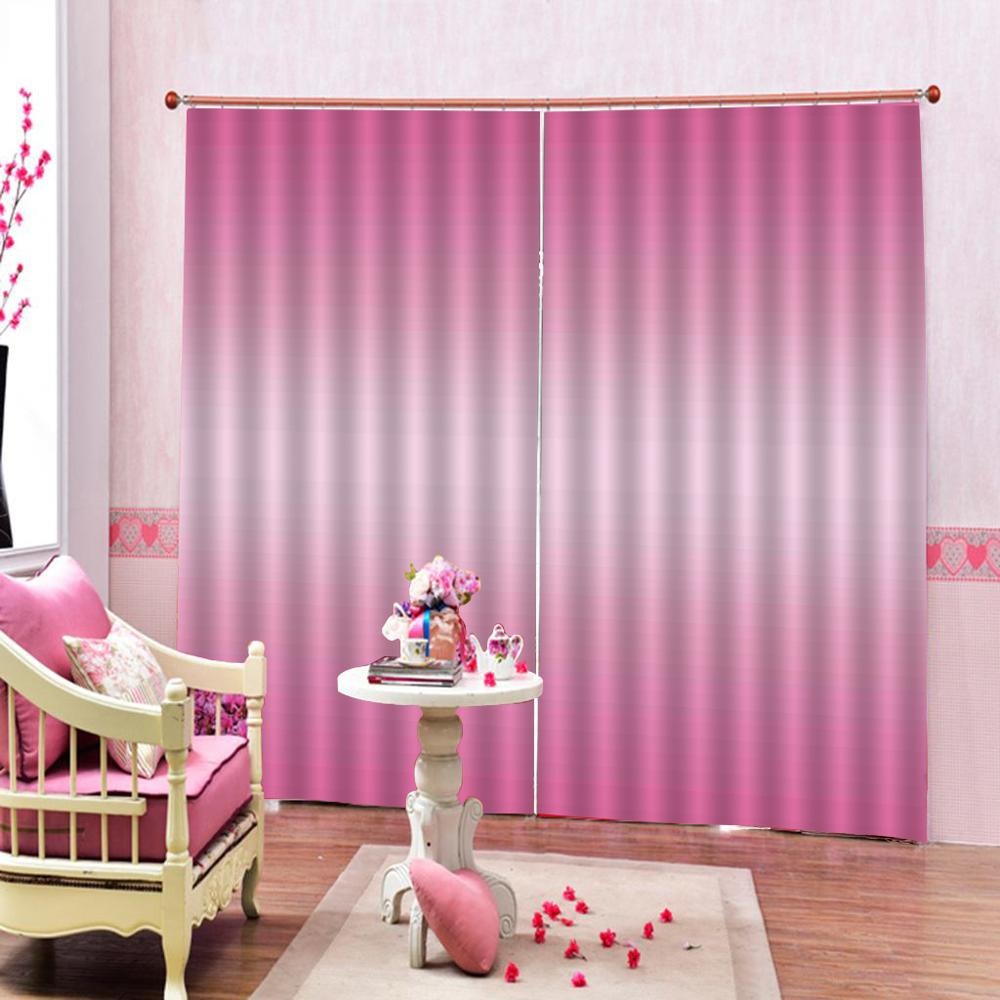 Luxury Blackout 3D Window Curtains For Living Room Bedroom Customized size pink curtains girls curtains
