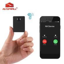 N9 Мини GSM устройство аудио монитор шпионское прослушивание наблюдения персональная мини Голосовая активация встроенный в два микрофона 12 дней в режиме ожидания