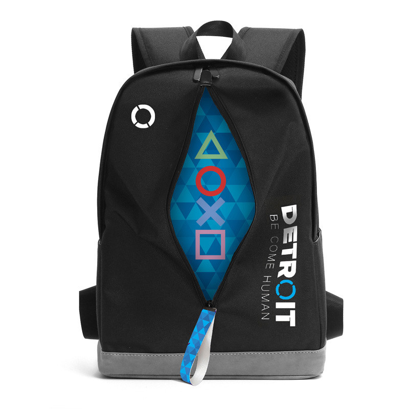 Hot Game Detroit: Become Human Backpack Cosplay RK800 Canvas Bag Harajuku Backpack Student School Bag Daily Backpack Travel Bags