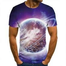 3d T -Shirt Planet Science Fiction Shirt Men Women Children Short Sleeve Cool Tees Fashion Casual SummerBoy Girl Kids Streetwear