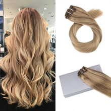 Popular Full Shine Tape In Hair Extensions Real Remy Human Hair Skin Weft Invisible Ombre Blonde Popular Colors For Salon