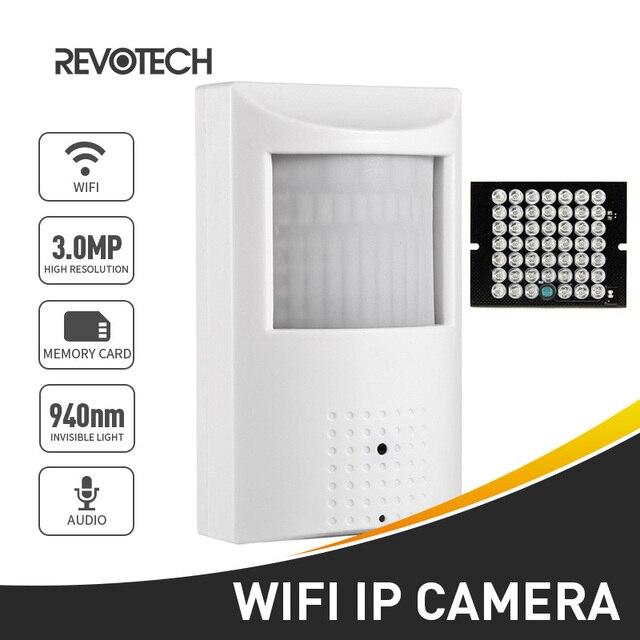 H.265 WIFI 3MP/1080 P IP Della Macchina Fotografica 940nm Visione Notturna Invisibile Mini Indoor P2P di Sicurezza Cam System con SD slot Per Schede (128G Max)