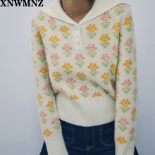 Xnwmnz za женский модный жаккардовый смешанный свитер Специальный