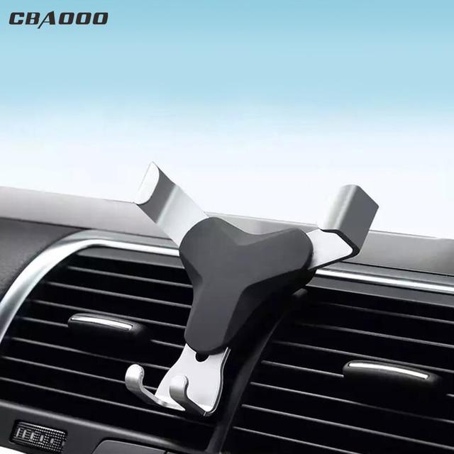 CBAOOO đa năng trọng lực giữ điện thoại di động trên xe hơi di động điện thoại ĐỊNH VỊ GPS ô thông hơi kẹp xoay 360 độ di động điện thoại