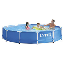 INTEX 366*76cm blue Piscina Round Frame Swimming Pool Set Pipe Rack Pond Large Family Swimming Pool With Filter Pump B32001