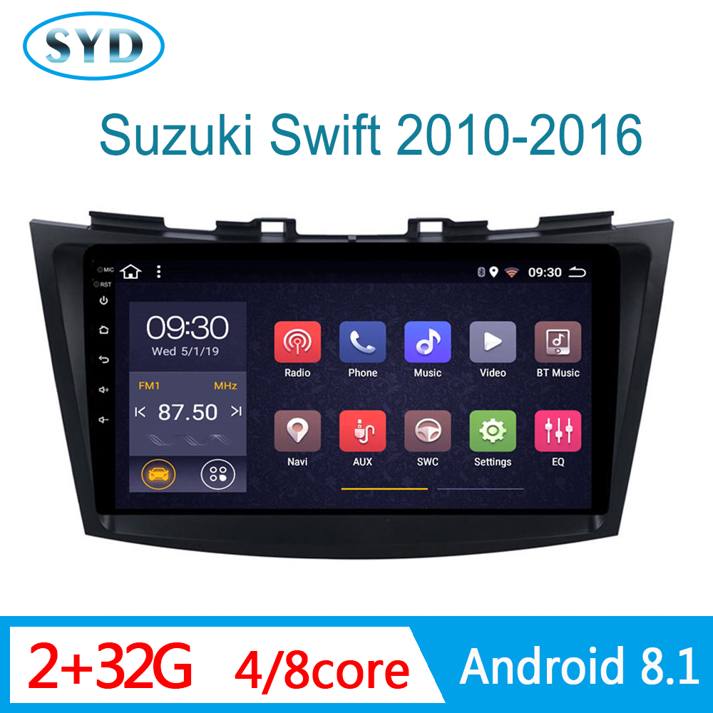 car central video For suzuki swift 2005-2018 autoradio head unit GPS navigator DVD RDS AM USB WIFI mirror link 1 DIN Android 9 image