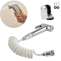 Shattaf Toilet Bidet Douche Spray Kit Shower Head Bracket Hose Sprayer Set Part