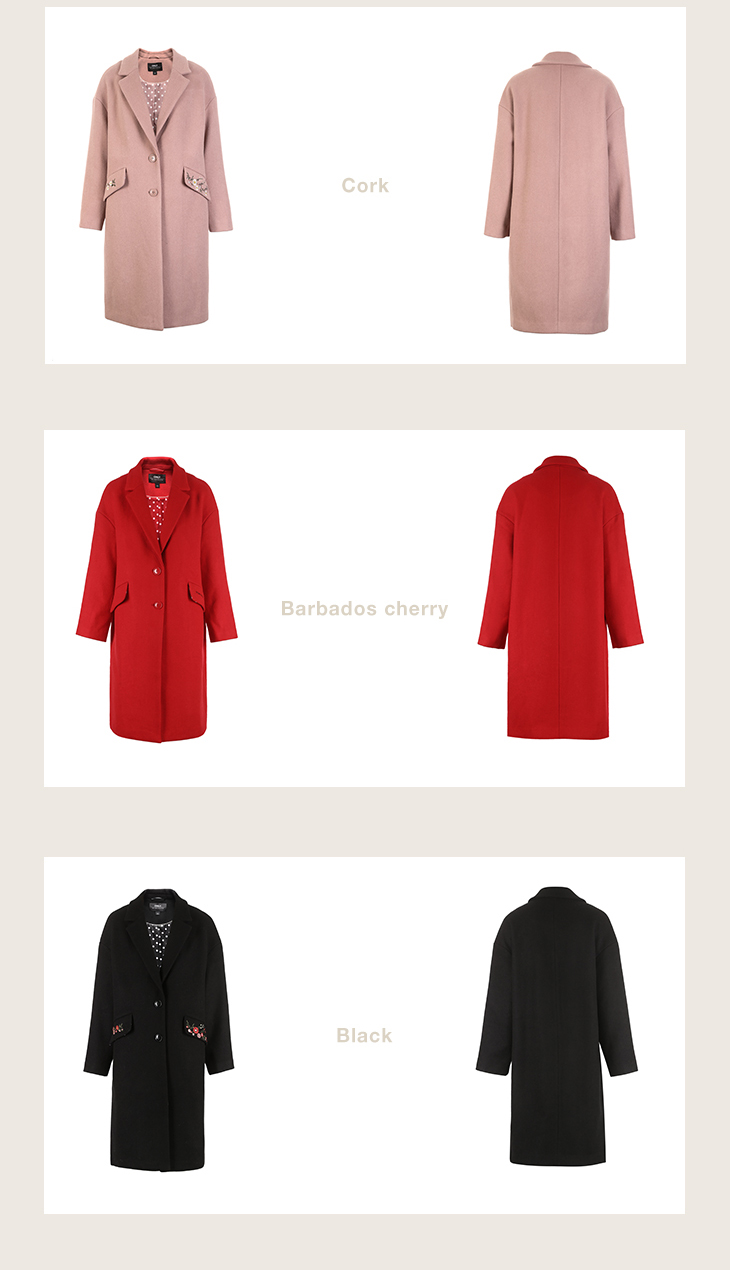 ONLY 19 Autumn Winter Women Wool Coat New Women's Embroidered Woolen Coat |11834S539 18