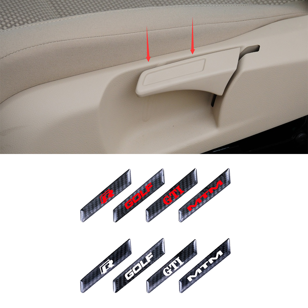 For Volkswagen VW GOLF 5 6 MK5 MK6 GTI TSI R32 Car Styling Carbon fiber Sticker Lift Wrench Handle Seat Insert Trim Cover 2pcs image