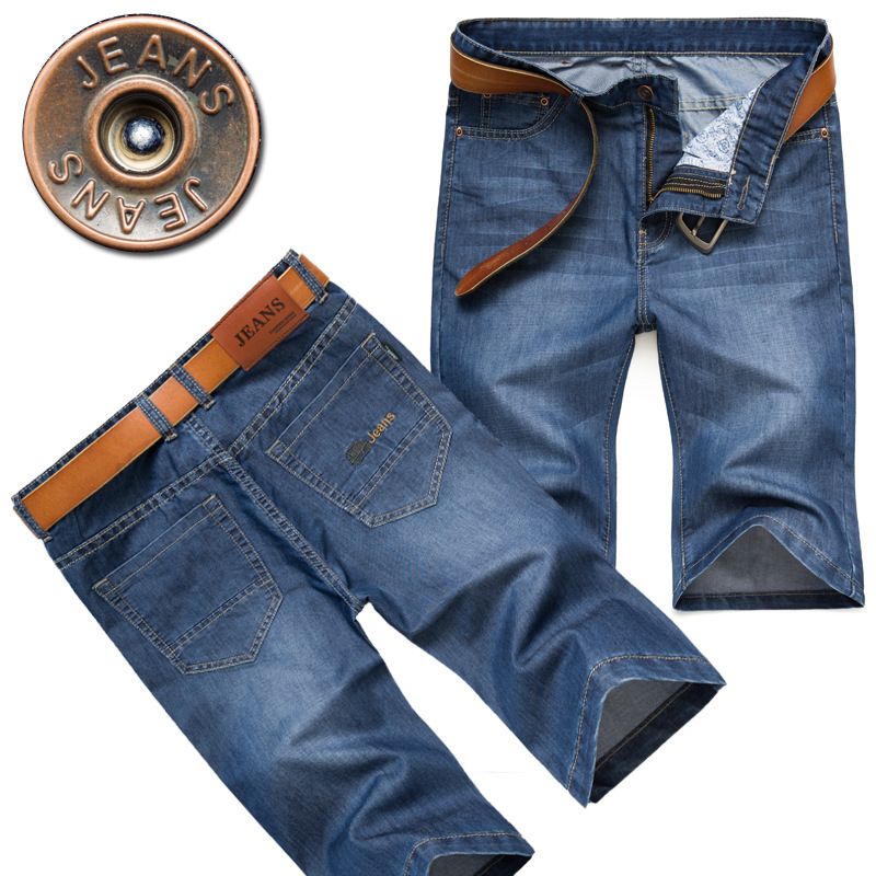 2019 Summer New Style Fashion Business MEN'S Jeans Men's Slim Fit Straight-Cut Short In Pants