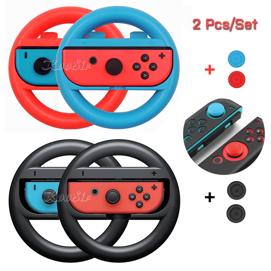 2 Pcs Nintendos Nintend Switch Joy Con Controller Racing Steering Wheel Nintendoswitch Handle Grips For Nitendo Switch Games