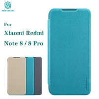 Para xiaomi redmi nota 8 pro fundas original nillkin faísca caso de couro plástico em redmi nota 8 casos de telefone protetor saco capa