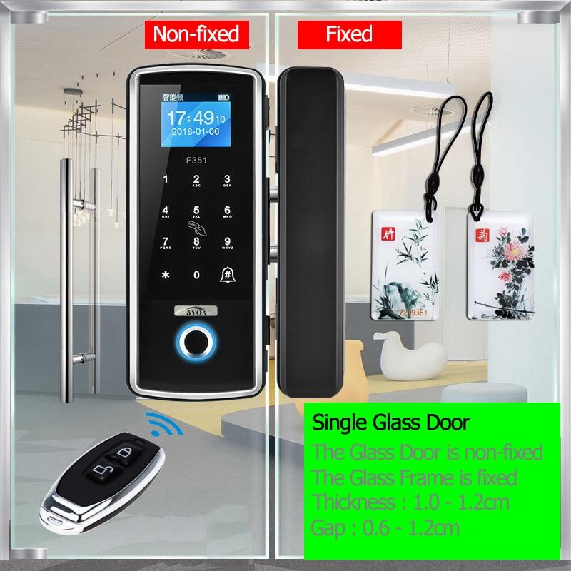Hd0b222d478a54fea9a247ded79e2fb286 Smart Door Fingerprint Lock Electronic Digital Gate Opener Electric RFID Biometric finger print security Glass Password Card
