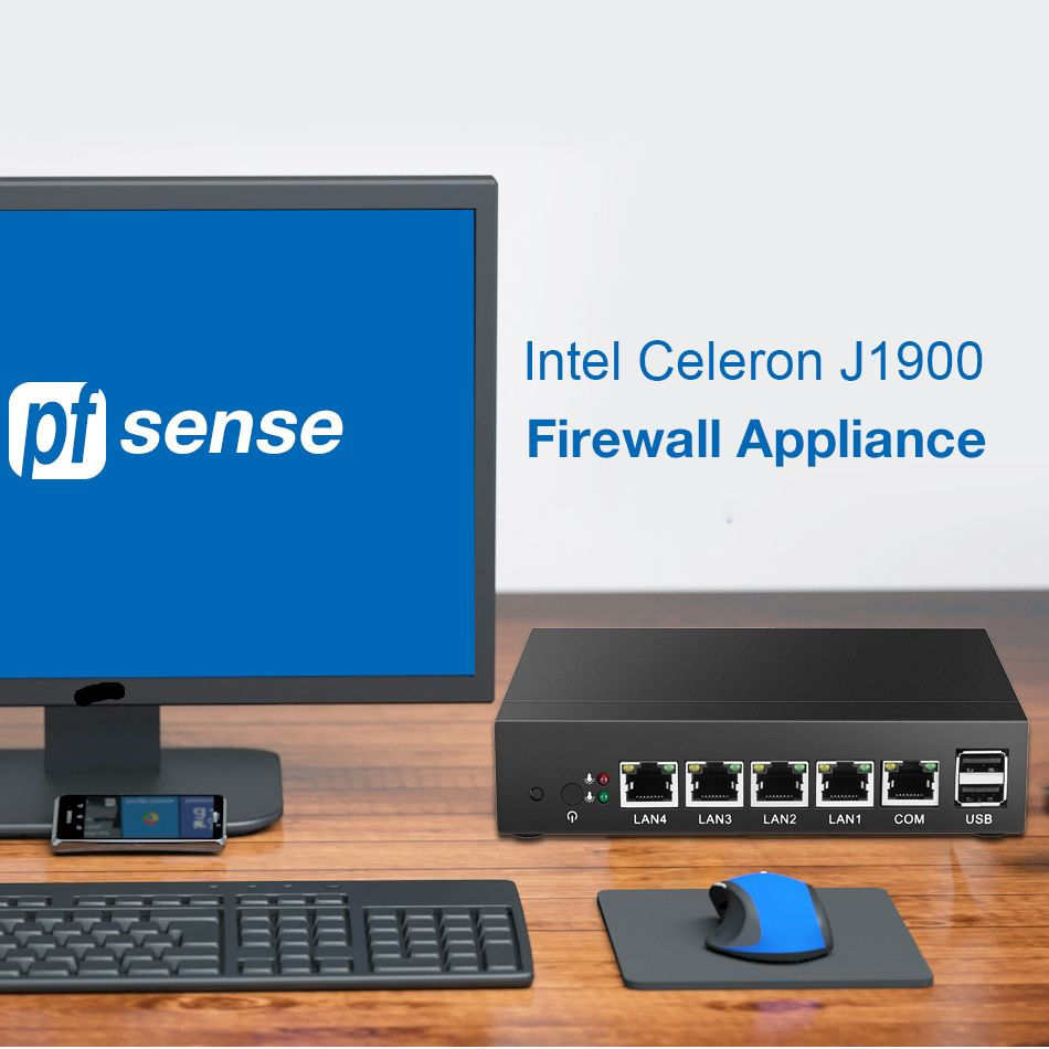 Firewall Intel Celeron J1800 Processor HD DDR3L SATA Wifi Ethernet 4 Gigabit Lan Port Router PFsense