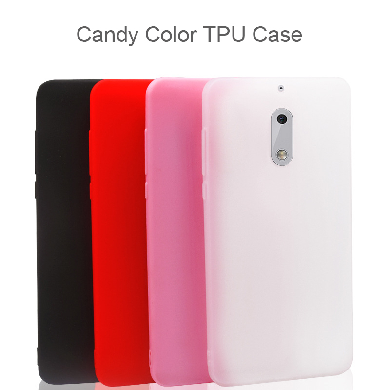 Candy Color Matte Soft Phone Case For <font><b>Nokia</b></font> <font><b>2</b></font> 3 5 6 9 6 2018 6.1 Solid TPU Silicone Protective Cases <font><b>Back</b></font> <font><b>Cover</b></font> image