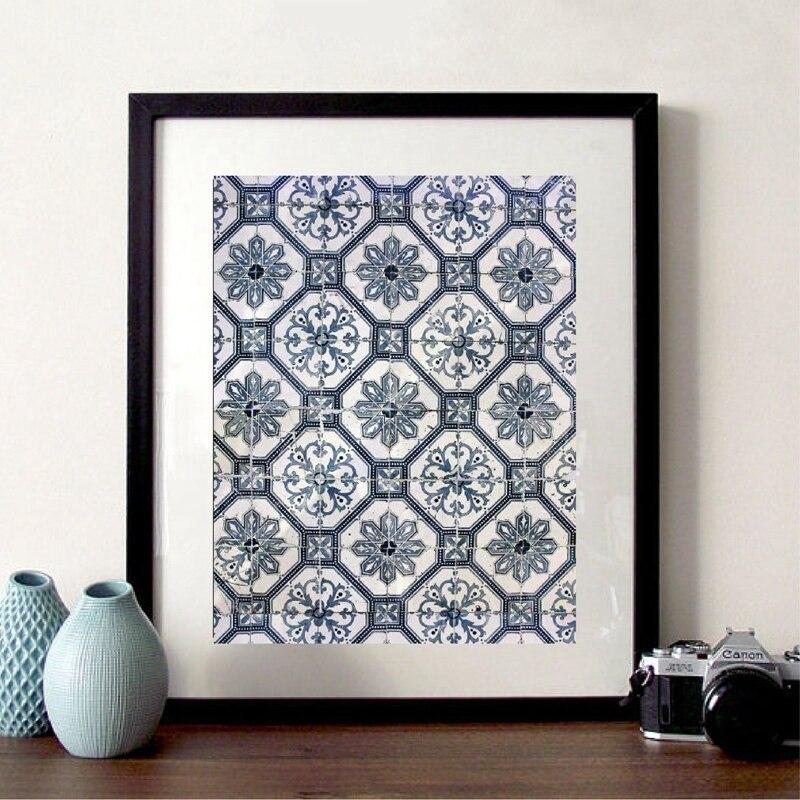 Moroccan Tiles Prints Poster Home Decor