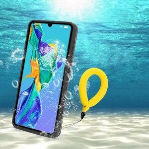 Image 1 - Huawei P30Lite Chống Nước Funda Huawei P30 Pro 360 Bảo Vệ IP68 Trong Suốt dùng cho Huawei P30 Lite Ốp Lưng Nước chứng minh Bao