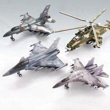 Diecast – modèle d'avion de chasse Rafale américain F16 Su35, en alliage, modèles d'avion militaires, jouets pour enfants et adultes, ornements d'exposition, 20cm