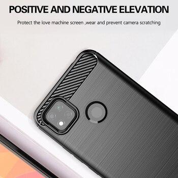 For Xiaomi Redmi 9C Case Carbon Fiber Shockproof Soft Silicone Cover for Xiaomi Redmi 9C 9A 9 For Xiaomi Poco X3 NFC Mi 10T Pro