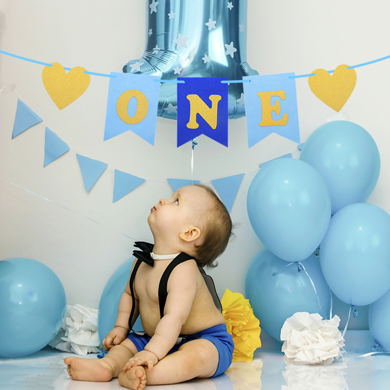Kids Happy Birthday Balloons Set Banners Bunting Balloon Decors Party Supplies