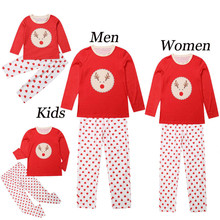 2020 Christmas Family Matching Clothes Pajamas Clothing Sets Father Son Nightwear Mother Daughter Xmas Outfits