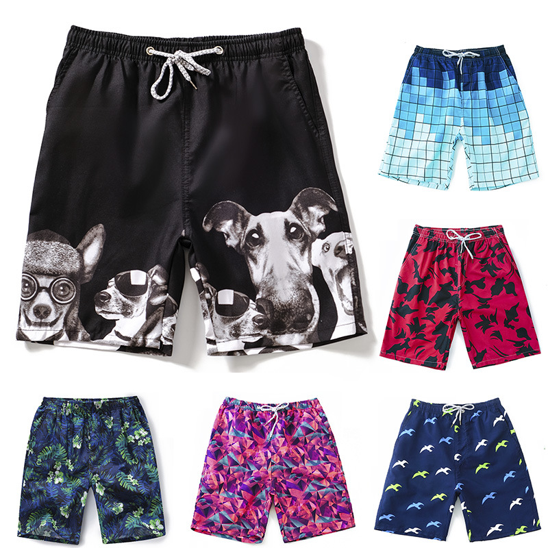 2019 New Style Short Men Plus-sized Boxer Quick-Dry Multi-color Selectable Breathable Fashion Bubble Hot Spring Beach Shorts