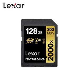 100% Originele Lexar 2000x Sd-kaart 32 Gb 64 Gb USH-II 300 Mb/s 128 Gb Klasse 10 U3 V90 Geheugen kaart Voor 3D 4K Full Hd Video Camera(China)