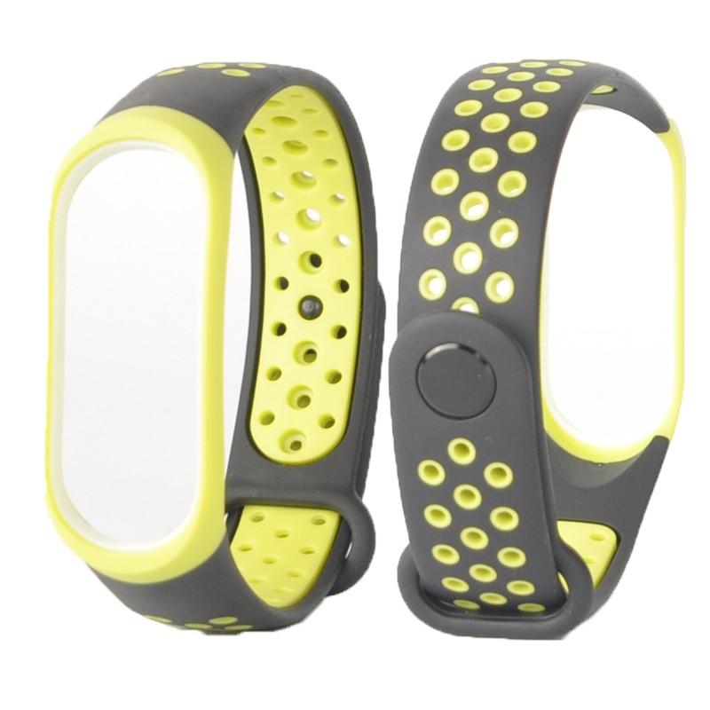 Para mi banda 3 4 cinta esporte silicone relógio de pulso pulseira mi band3 acessórios pulseira inteligente para xiao mi mi banda 3 4 cinta 5