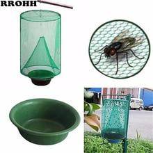 Atrapamoscas colgante reutilizable para uso sanitario, trampa para moscas, para el Control de plagas, jaula exterminadora, red para jardín, suministros para el hogar, 1 Uds.