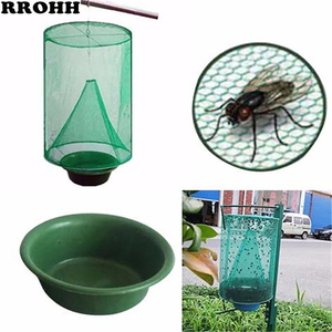 Image 1 - Health 1PCS Reusable Hanging Fly Catcher Killer Pest Control Flies Flytrap Zapper Cage Net Trap Garden Home Yard Supplies