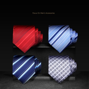 High Quality 2019 New Fashion Ties Men Business Casual 8cm Tie Wedding Formal Ties for men Designers Brand with Gift Box